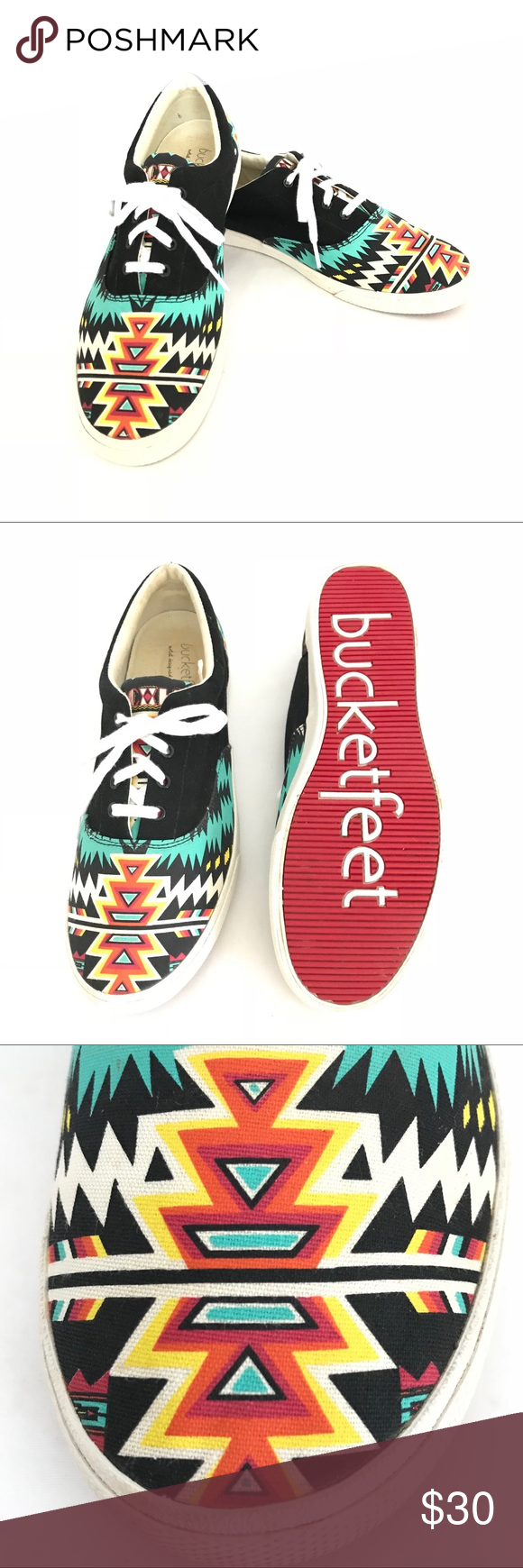 ee977e6d76 👗Bucketfeet Archer Sneaker Tribal Print Size 10 These shoes! They are  made-to