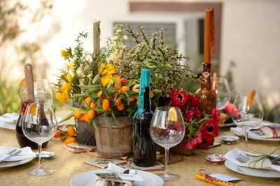 The Wedding Decorator Spanish Style Table Setting