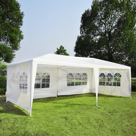 Outsunny 10 X 20 Gazebo Canopy Party Tent W 4 Removable Window Side Walls White Canopy Outdoor Party Tent Gazebo Canopy