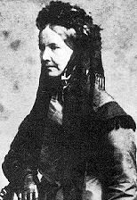 Ellen Nussey around 1855, at the time of the death of Charlotte.