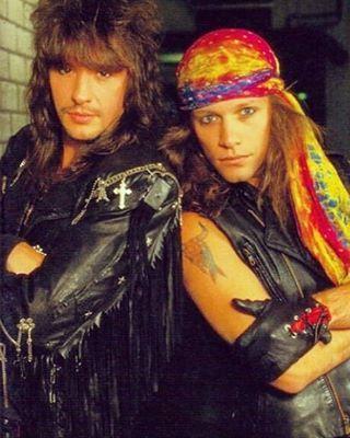 Richie Sambora and Jon Bon Jovi circa 1991. @newjerseybj | Instagram.