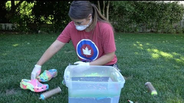 Hydro Dipping A Pair Of Crocs