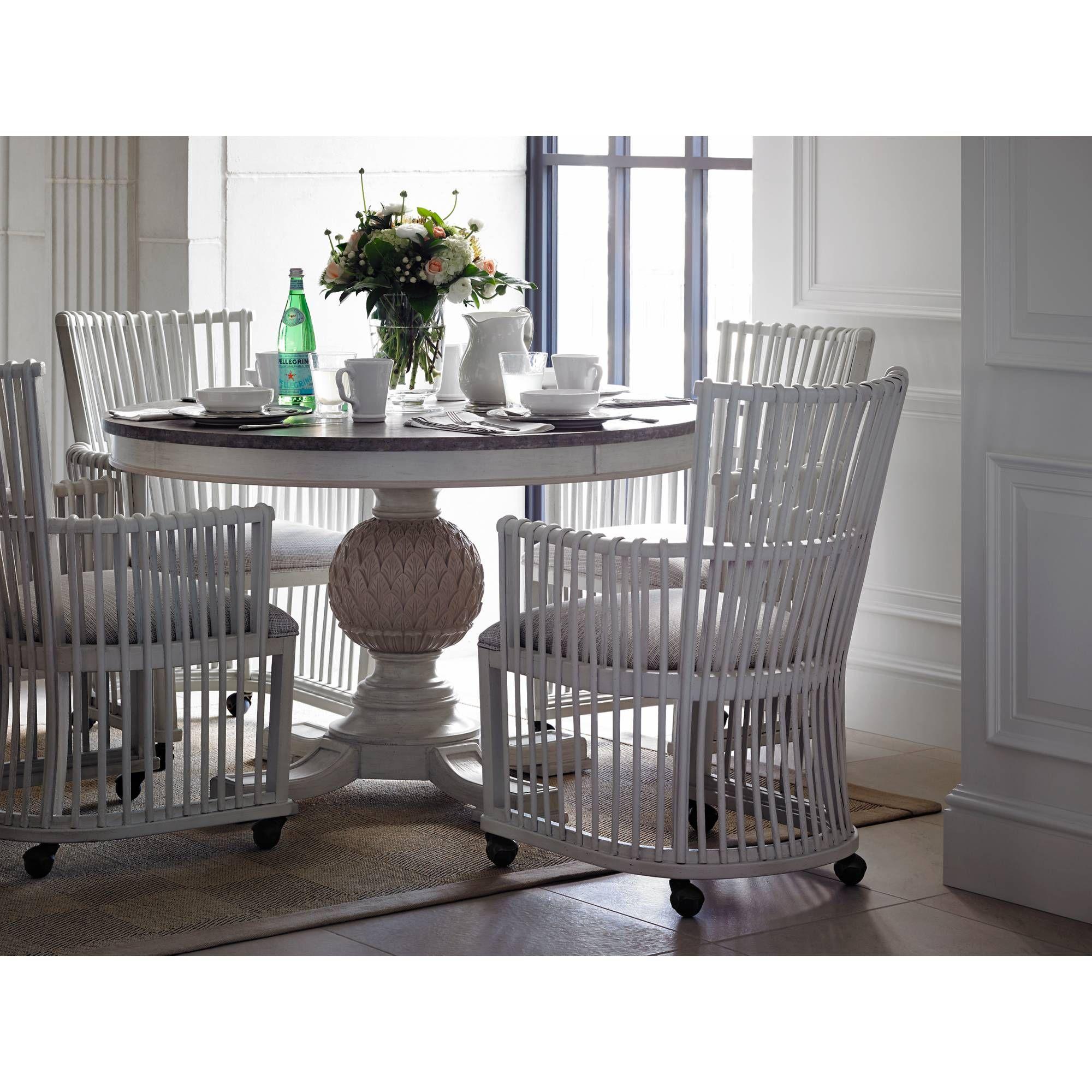 Stanley Preserve 5Pc Artichoke Pedestal Dining Room Set With Prepossessing Stanley Dining Room Set Decorating Design