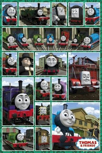 Thomas Friends Poster 17 Cast Pics 24x36 TV Cartoon Tank