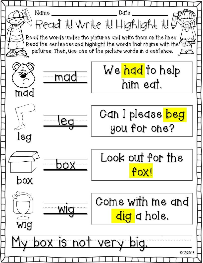 worksheet Worksheet Rhyming Words read it write highlight rhyming words edition edition