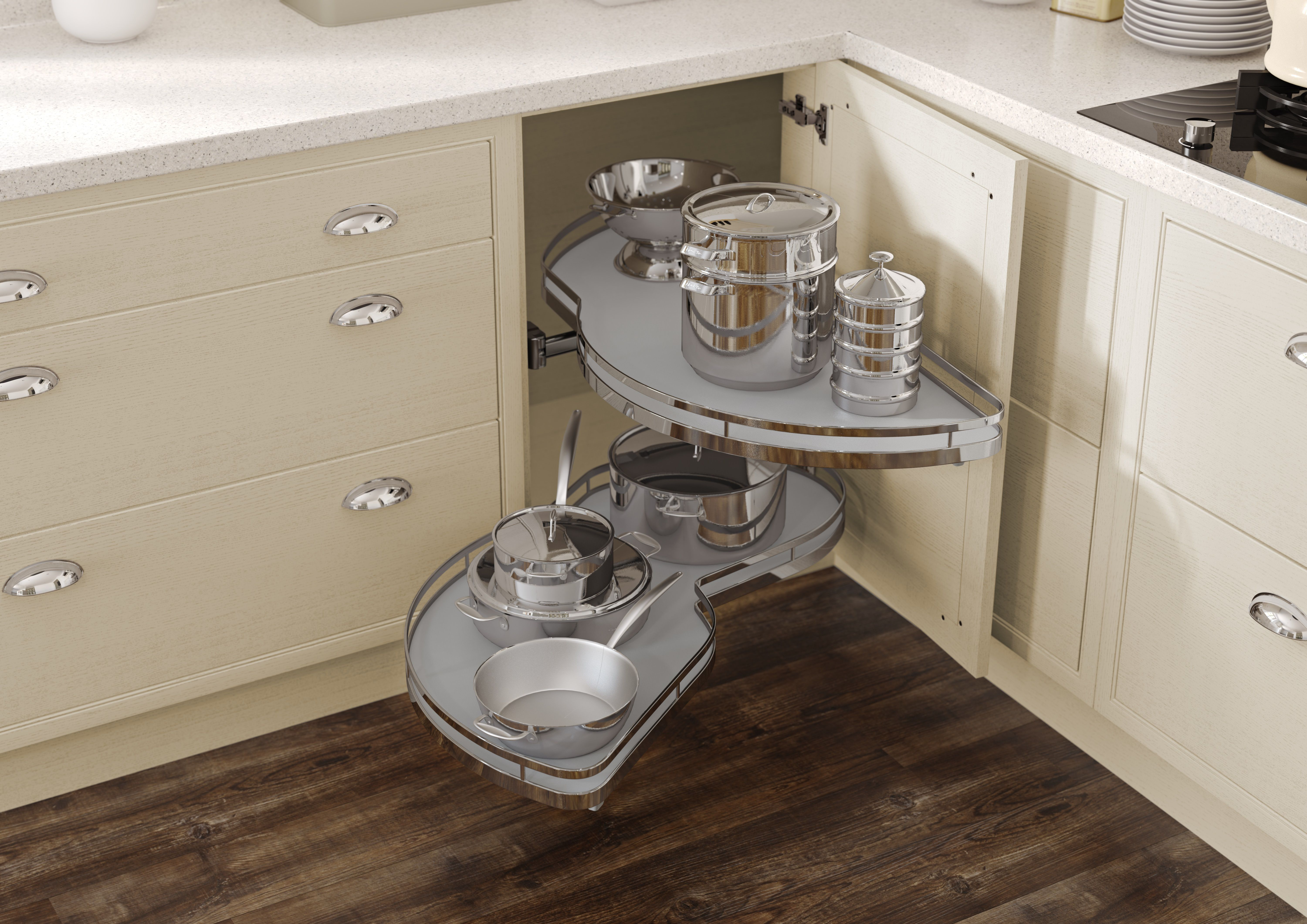 Hiline cantilever carousel corner Kitchen fittings
