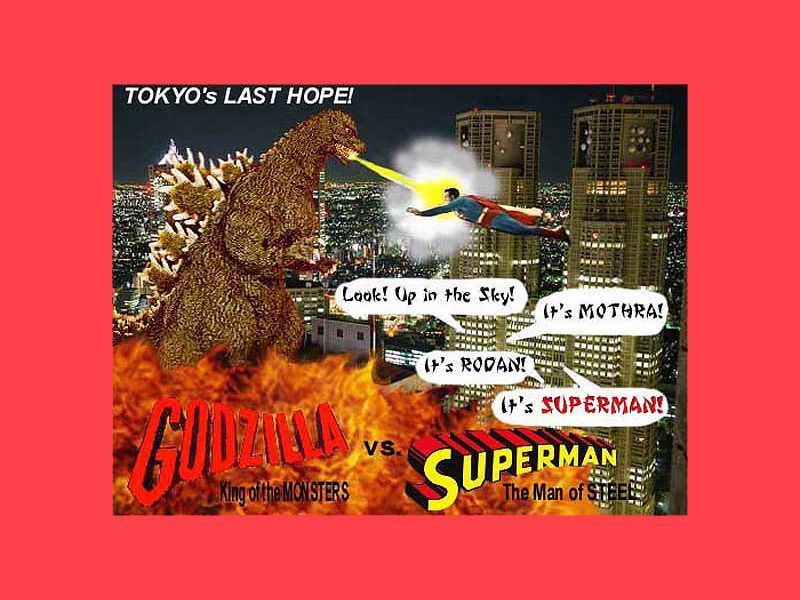Superman vs Godzilla
