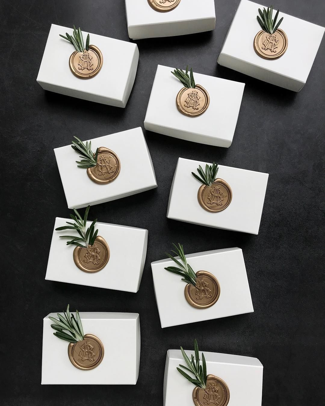 We are obsessed with this perfect combo of rosemary and wax seal.