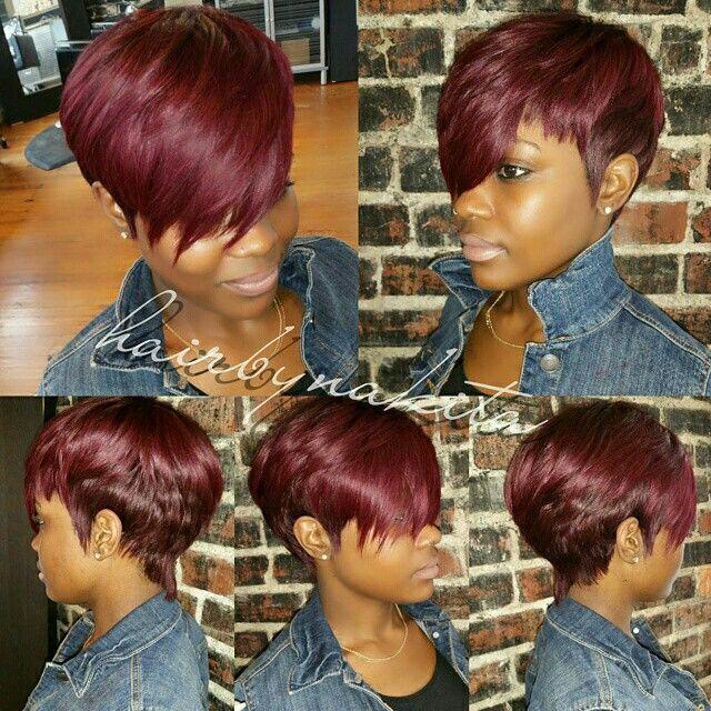 rotes Haar Ebenholz