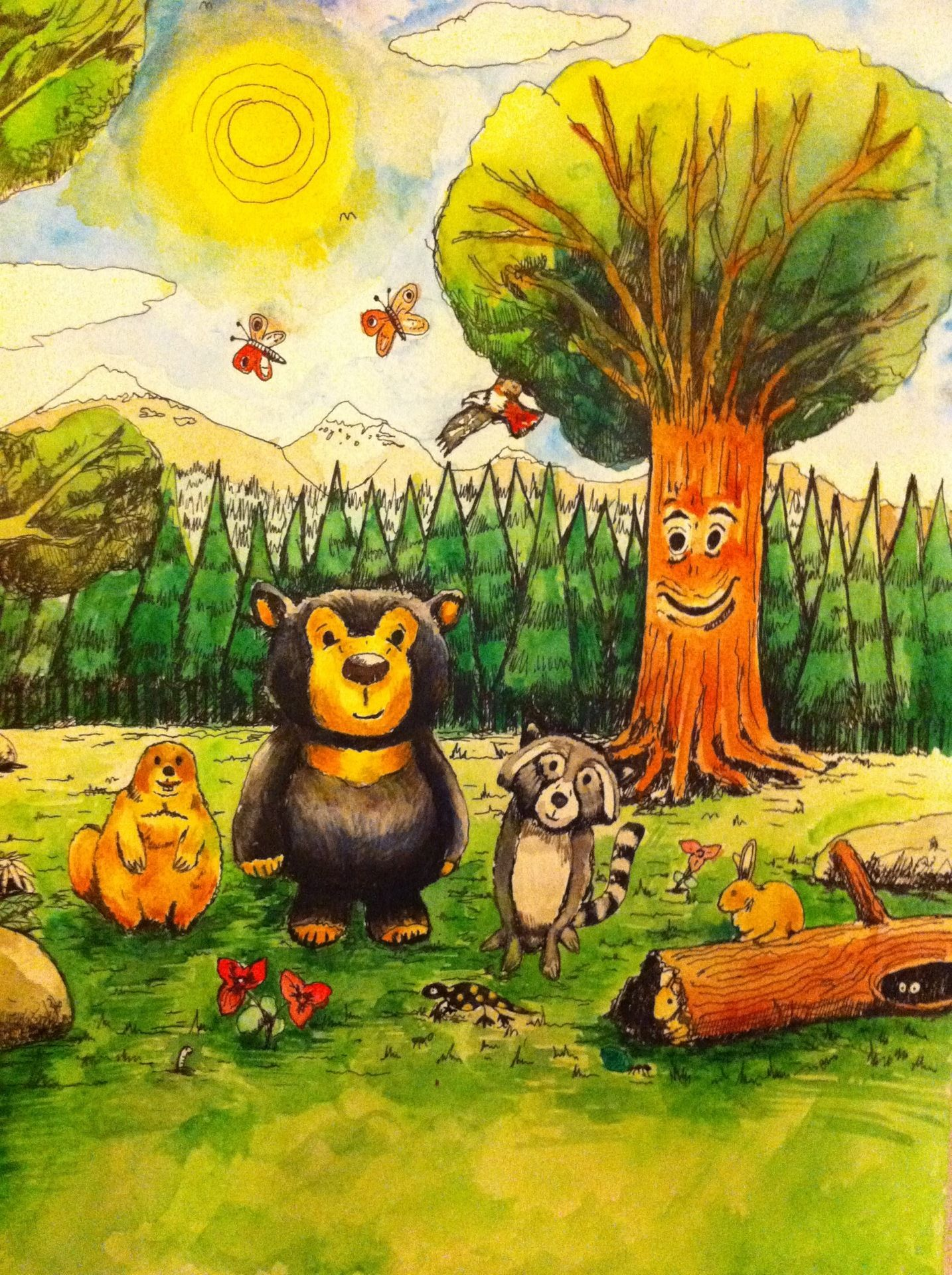 #raleighthebear #bear #blackbear #racoon #groundhog #instacool #instagood #art #watercolour #watercolourpainting #drawing # childrensbooks #follow #followback #art #tomlaird #tomlairdart