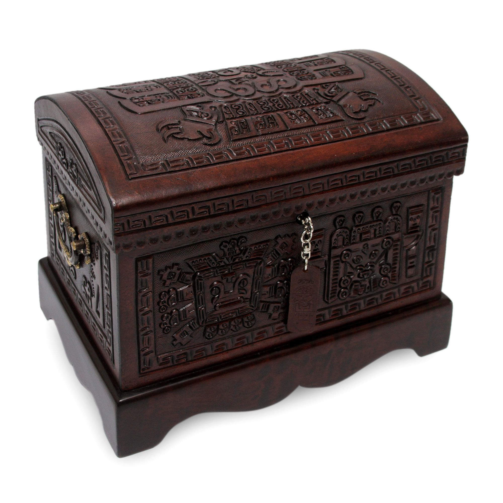 Colonial Tooled Leather Jewelry Box | Leather jewelry box, Leather ...