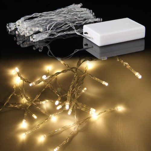 Battery Operated Warm White 40 LED Fairy Light String Xmas Party