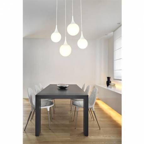 Lámpara de techo 4 luces de la colección dewdrop. luces con diseño ...