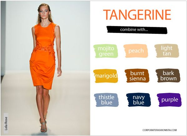 Color Compatibility Spring Edition Tangerine Orange Spring Colors Fashion Color Trends Fashion Color Combinations For Clothes