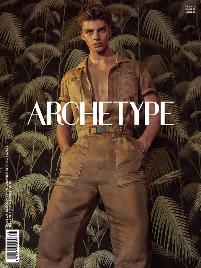 Archetype Magazine launches its SS16 issue with cover stars Daan van der Deen and Caroline Winberg, both wearing Kenzo.