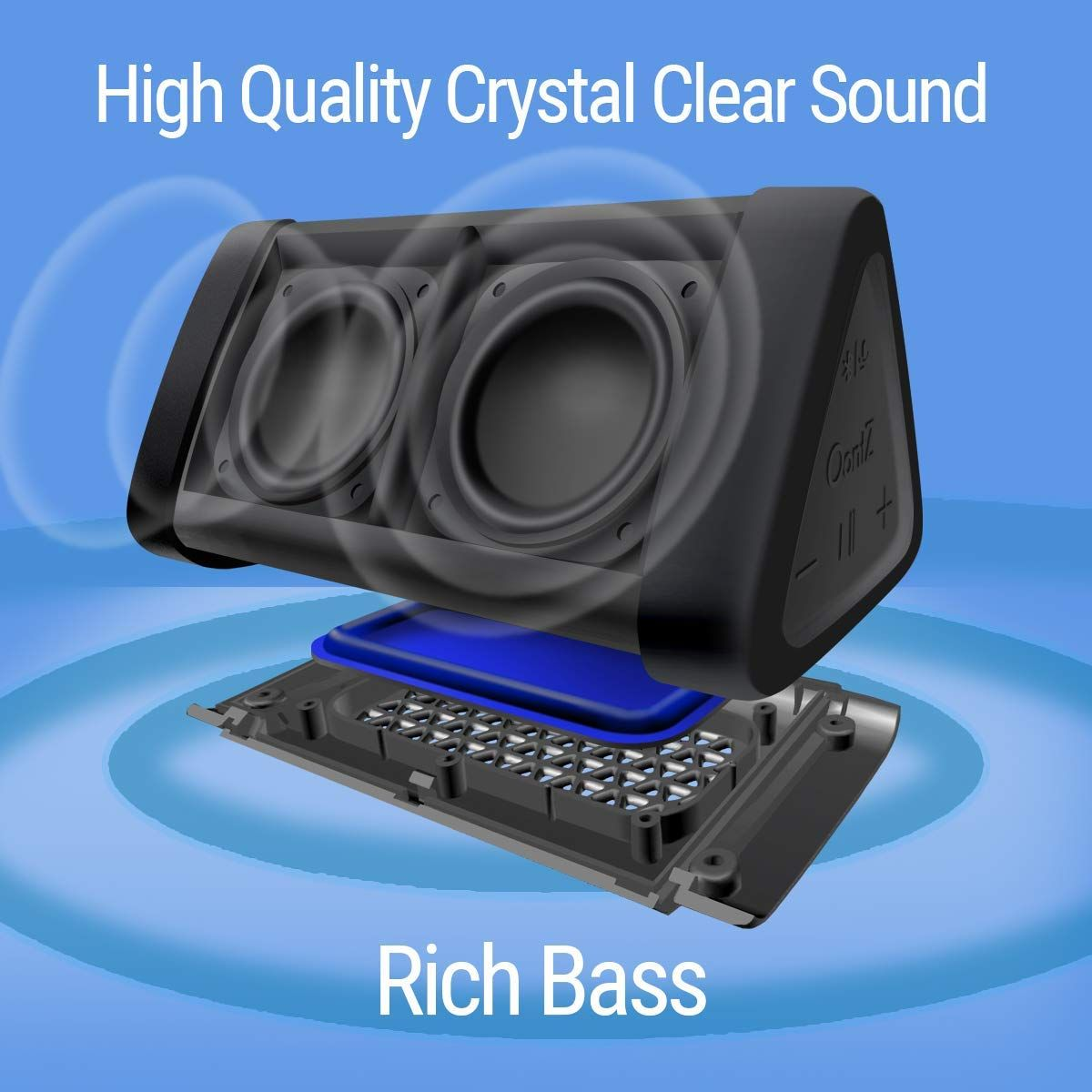 Portable Bluetooth Speaker With 100ft Wireless Range Bluetooth Speakers Portable Waterproof Bluetooth Speaker Bluetooth