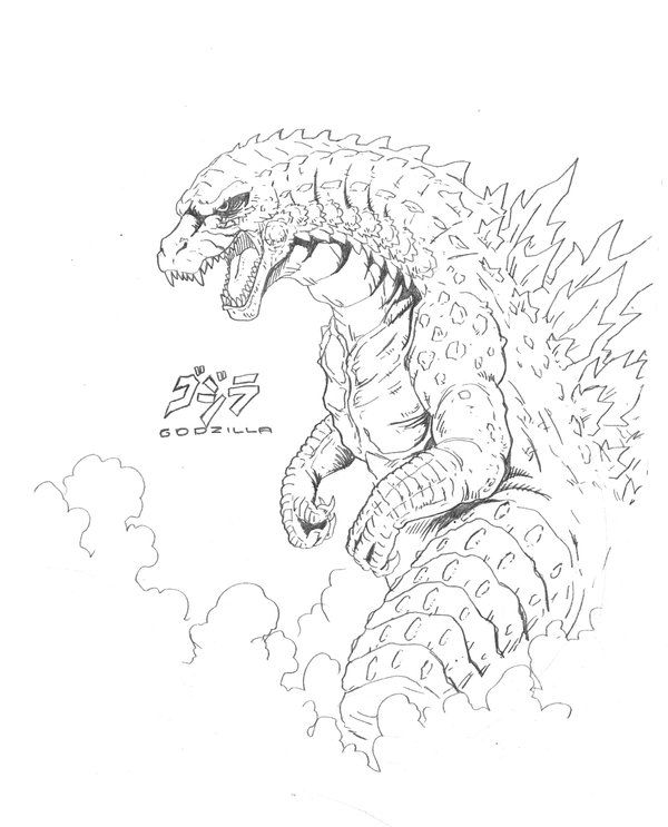another legendary godzilla sketch by jason heichel