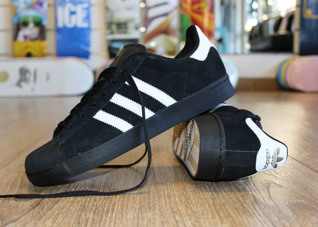 Adidas Skateboarding Superstar Vulc ADV Core Black White