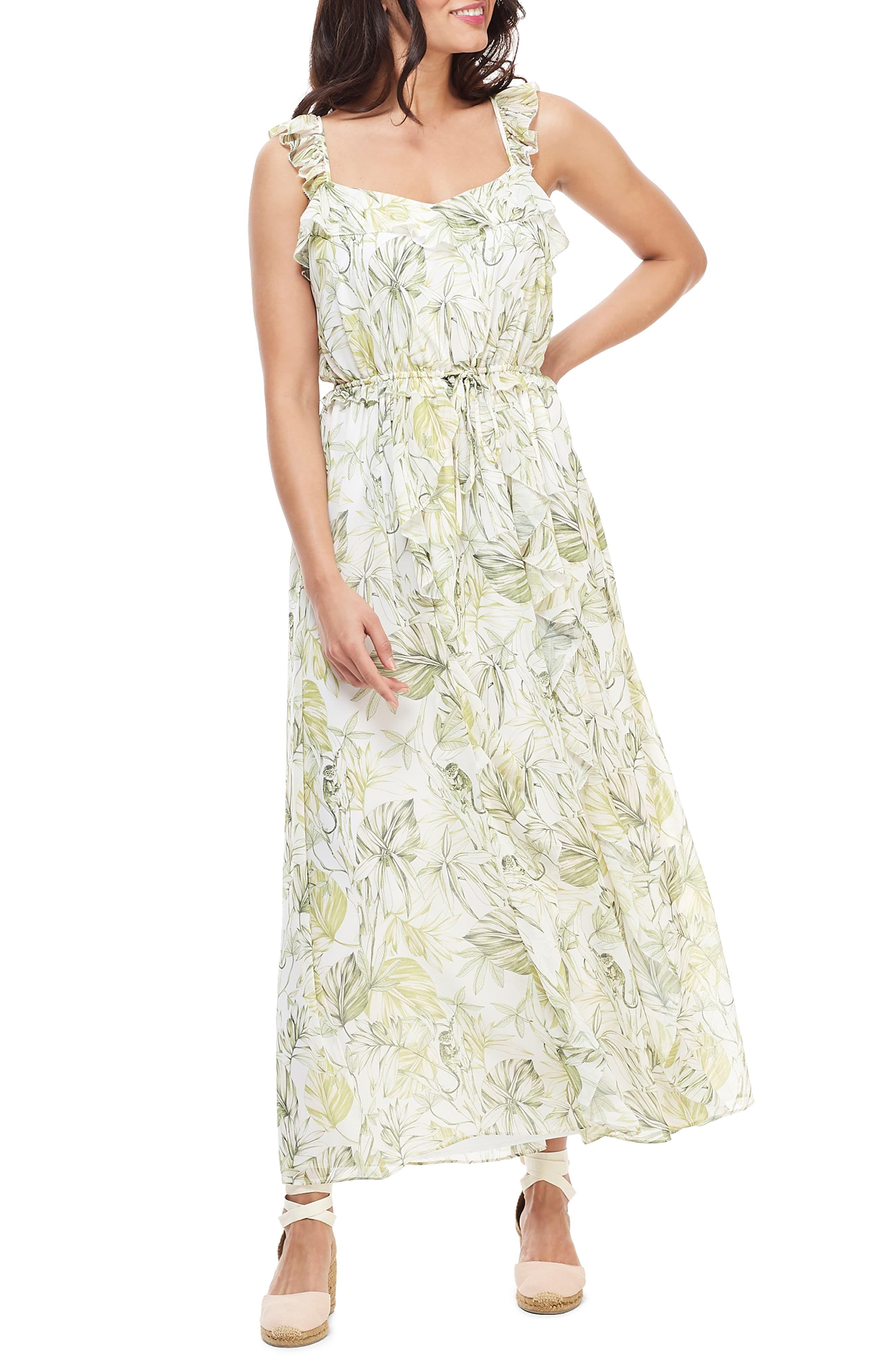 de4e3a5300d60b Women's Gal Meets Glam Collection Cheryl Crossback Ruffle Maxi Dress, Size  0 - Green