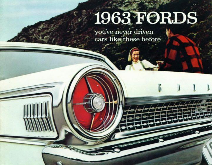 1963 Ford Full Line sales catalog.  My mom had a dark blue 1963 1/2 Ford Galaxie…