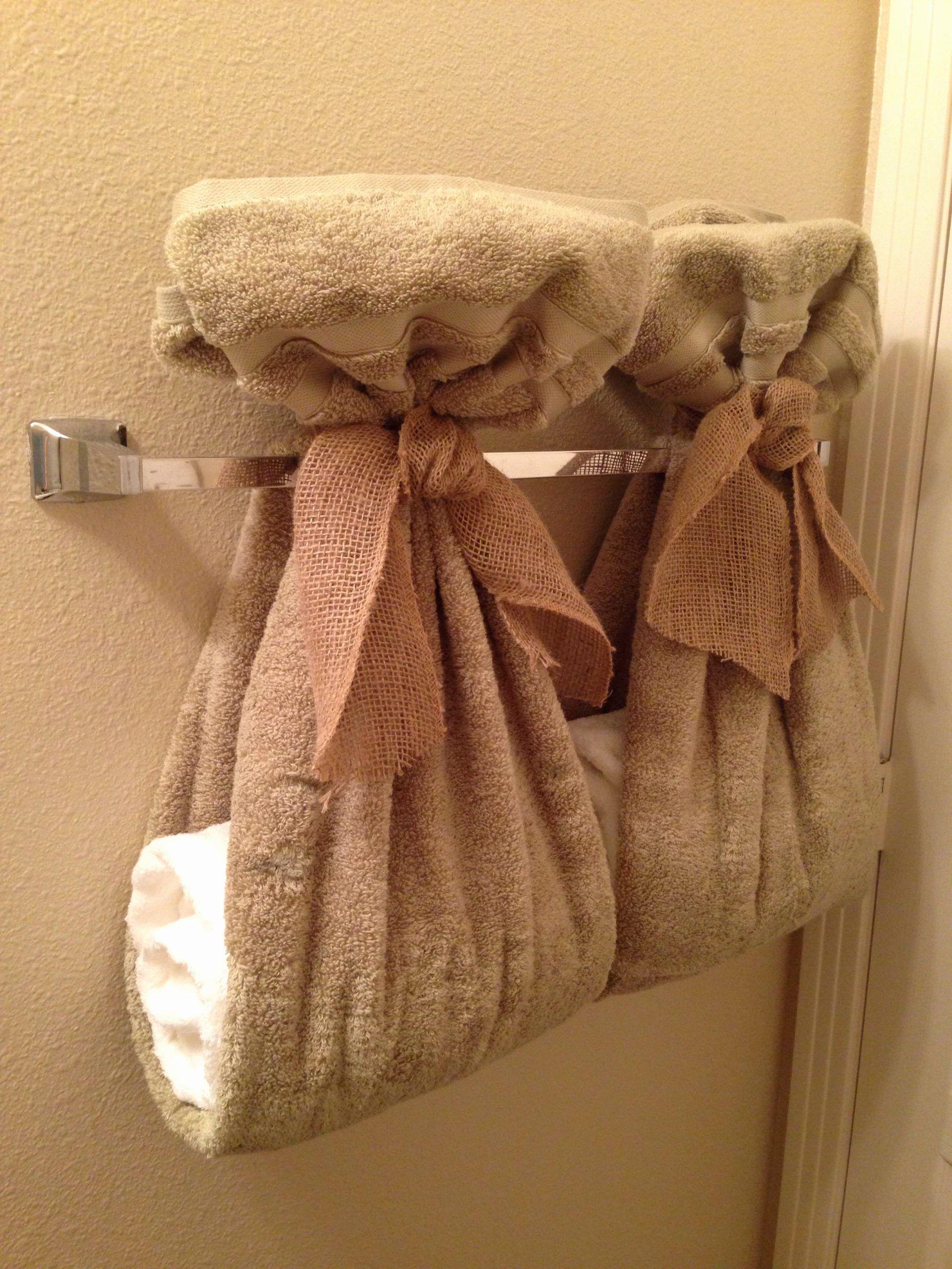 Organize Conquer Clutter Beautify Your Home The Half Bath Fix Bathroom Towel Decor Bathroom Towel Decor Ideas Decorative Towels