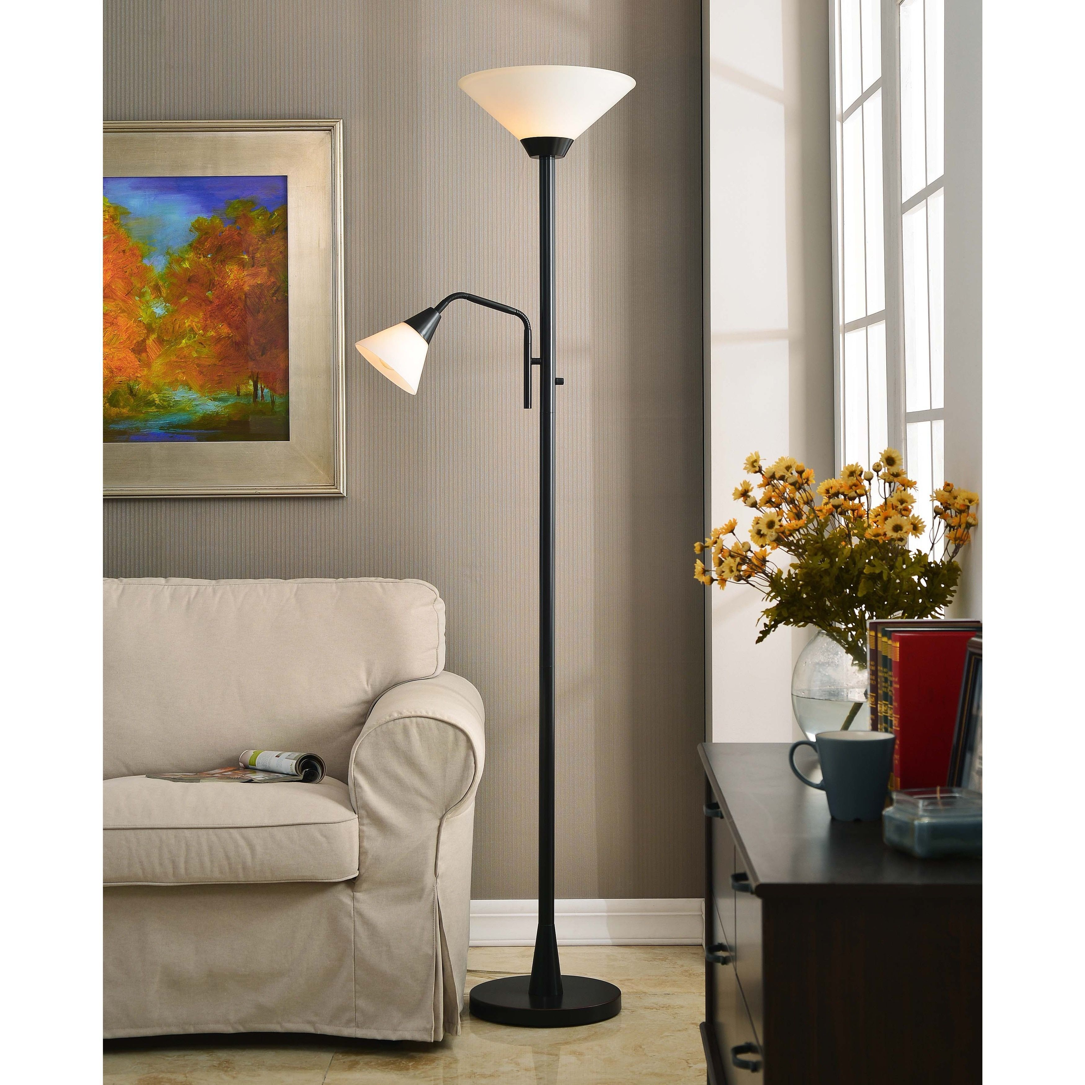 craft metal lighting. Design Craft Rowe 2-light Oil Rubbed Bronze Torchiere (OS70349), Brown ( Metal Lighting F