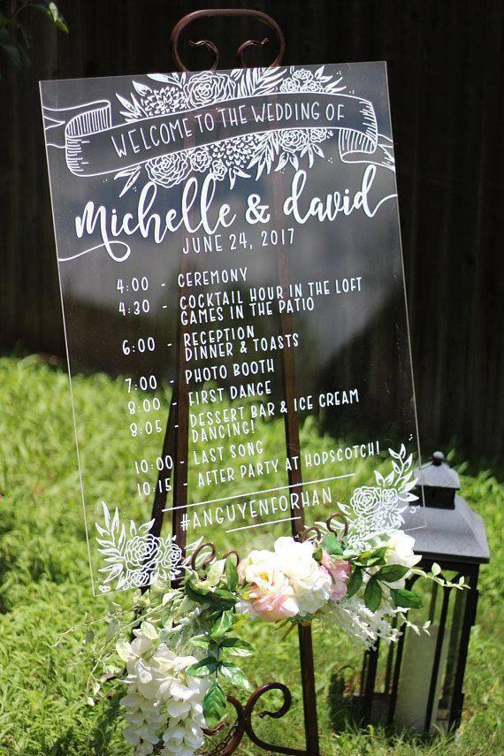 Custom Acrylic Timeline / clear / wedding / bridal