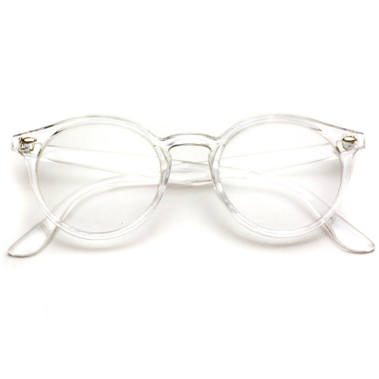 bf509c2dd Ainsley Transparent Round Clear Frame, Clear Lens Modern Hipster Fashion  Glasses