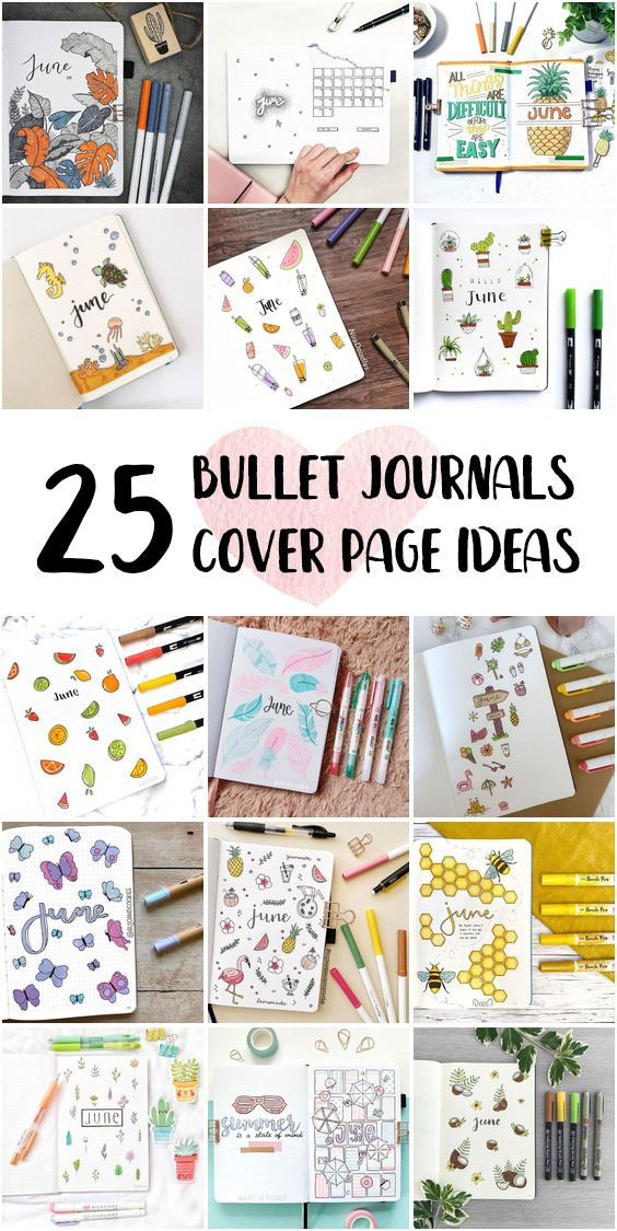 Bullet Journal Cover Page Pages Step By Step June 2020
