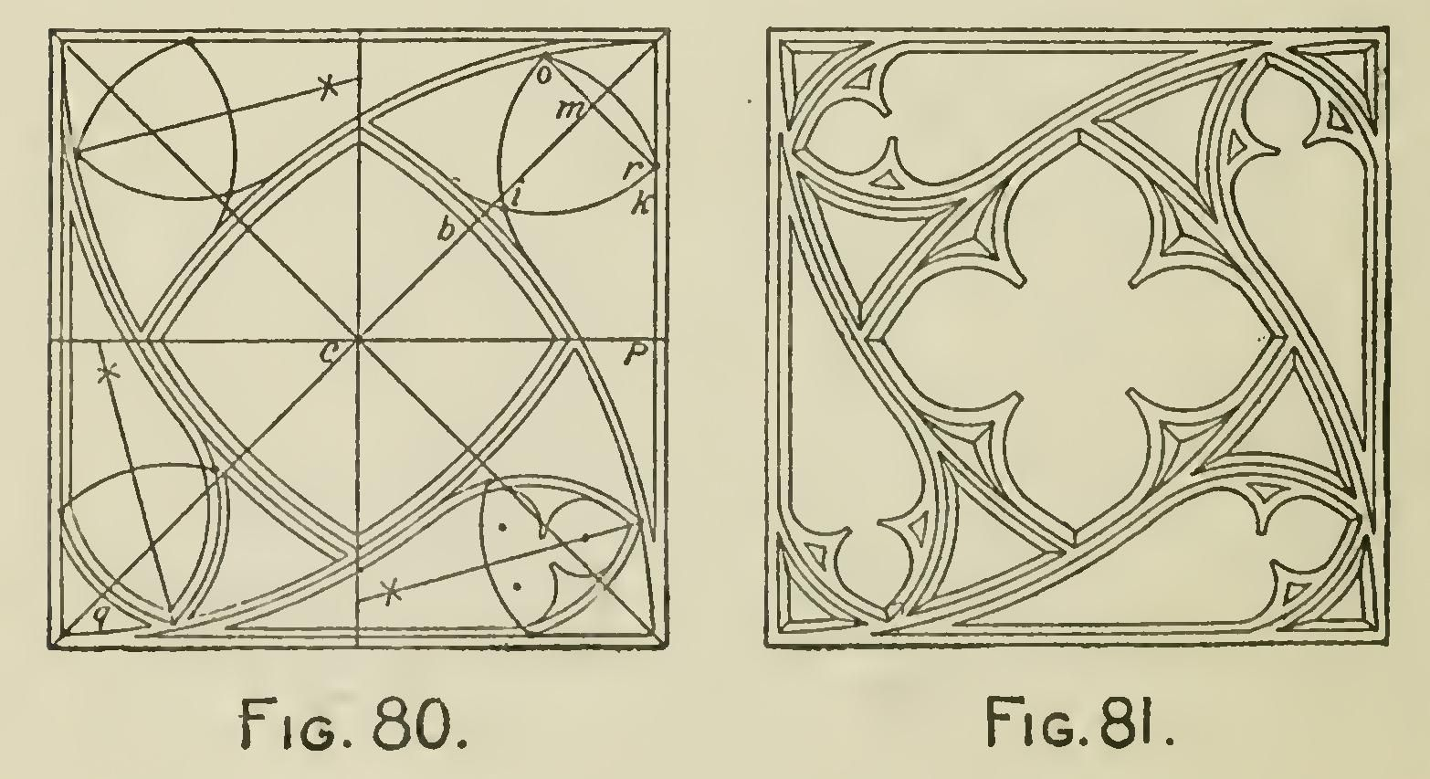 Arches centers windows and doorheads fig radius arch draw