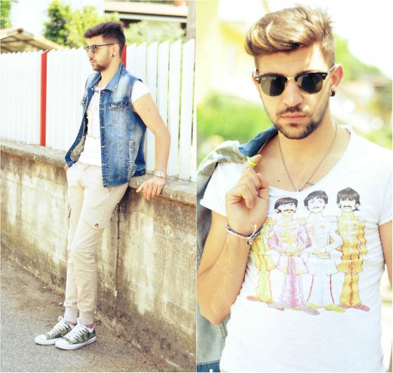 That tee tho >>> (With images) Beatles tshirt, Mens