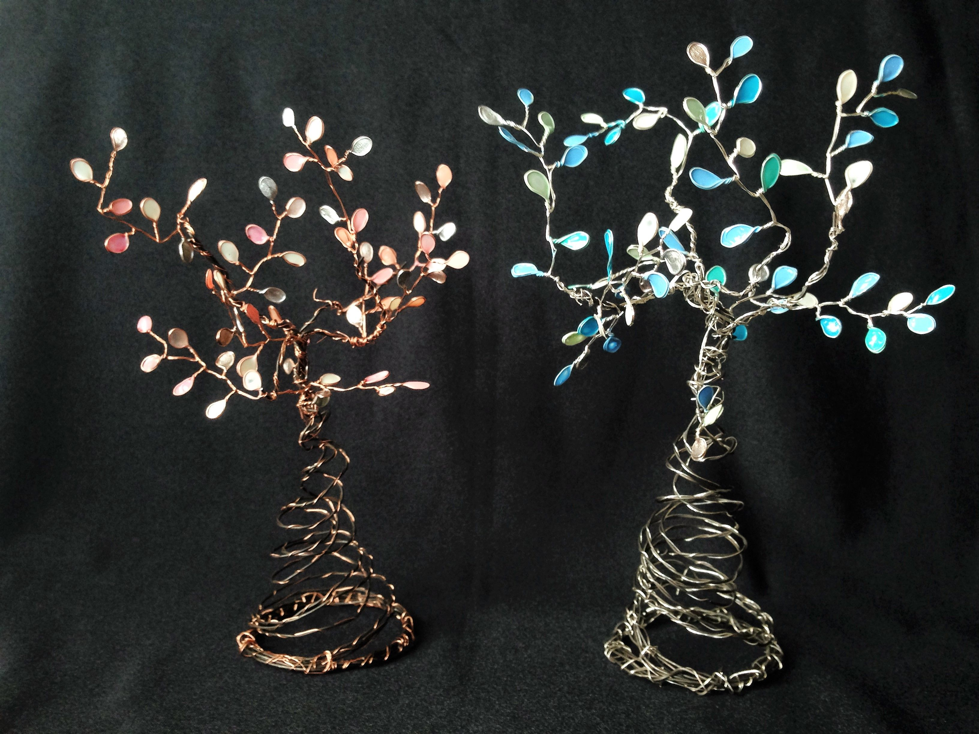 Trees made from nail polish and wire | Wire Trees | Pinterest ...