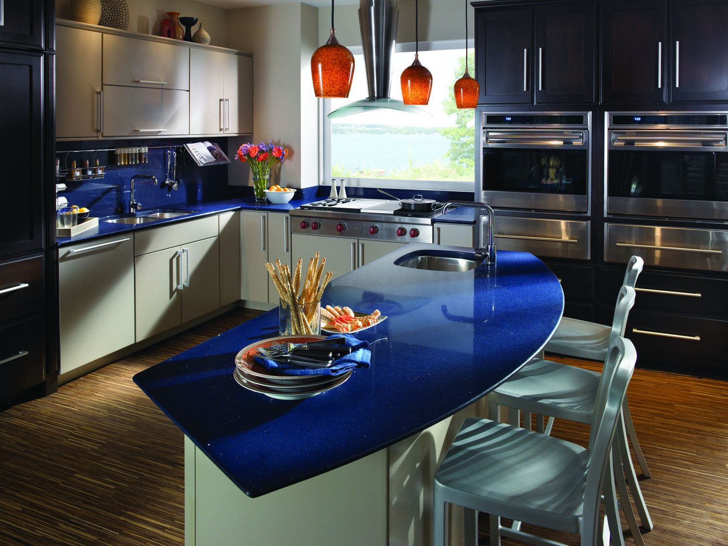 Blue Quartz Countertops In Kitchen | Buy Countertops In Greater Boston, MA  Area Kitchen Bath