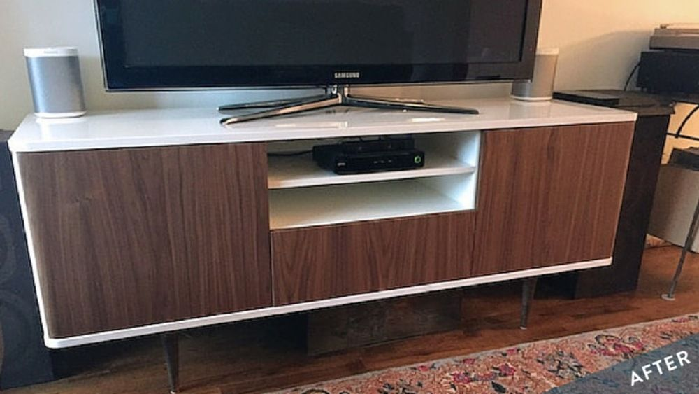 Ikea Credenza Tv Stand : Ikea hack mostorp tv unit goes mid century modern diy home