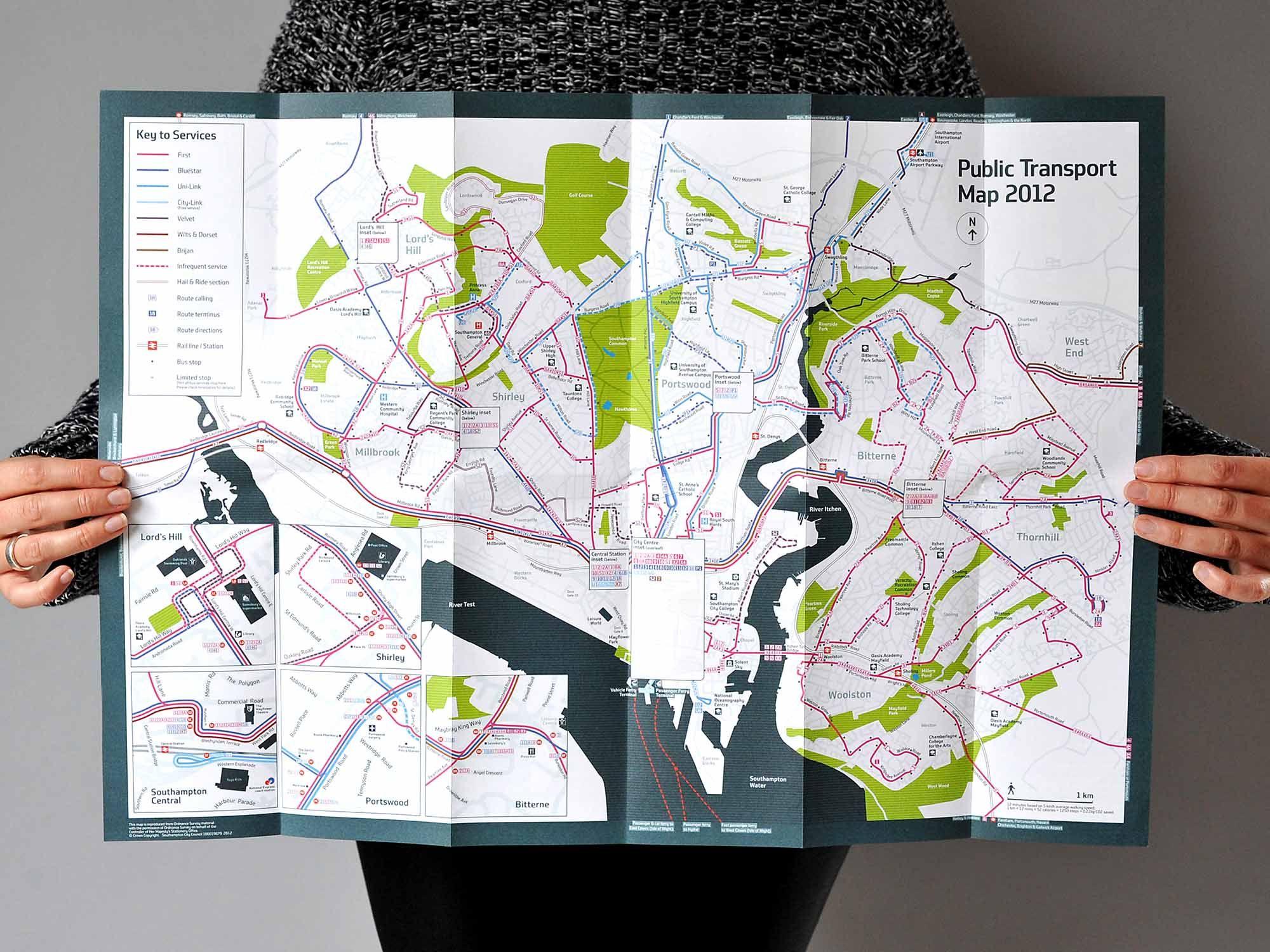 Southampton Legible City Map Design Pinterest Southampton Map