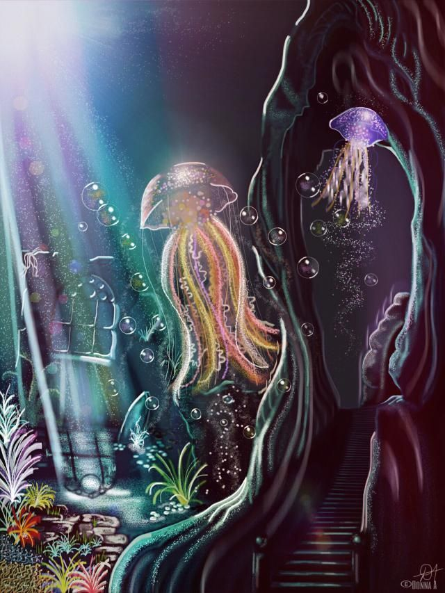 #darkorchid #jellyfish Aesthetic #jellyfish Anime #jellyfish Aquarell #jellyfish Aquarium