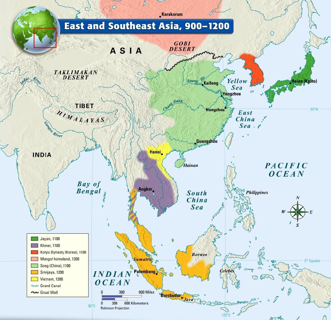 Carte Asie Moyen Age.East And Southeast Asia 900 1200 Moyen Age Carte Asie