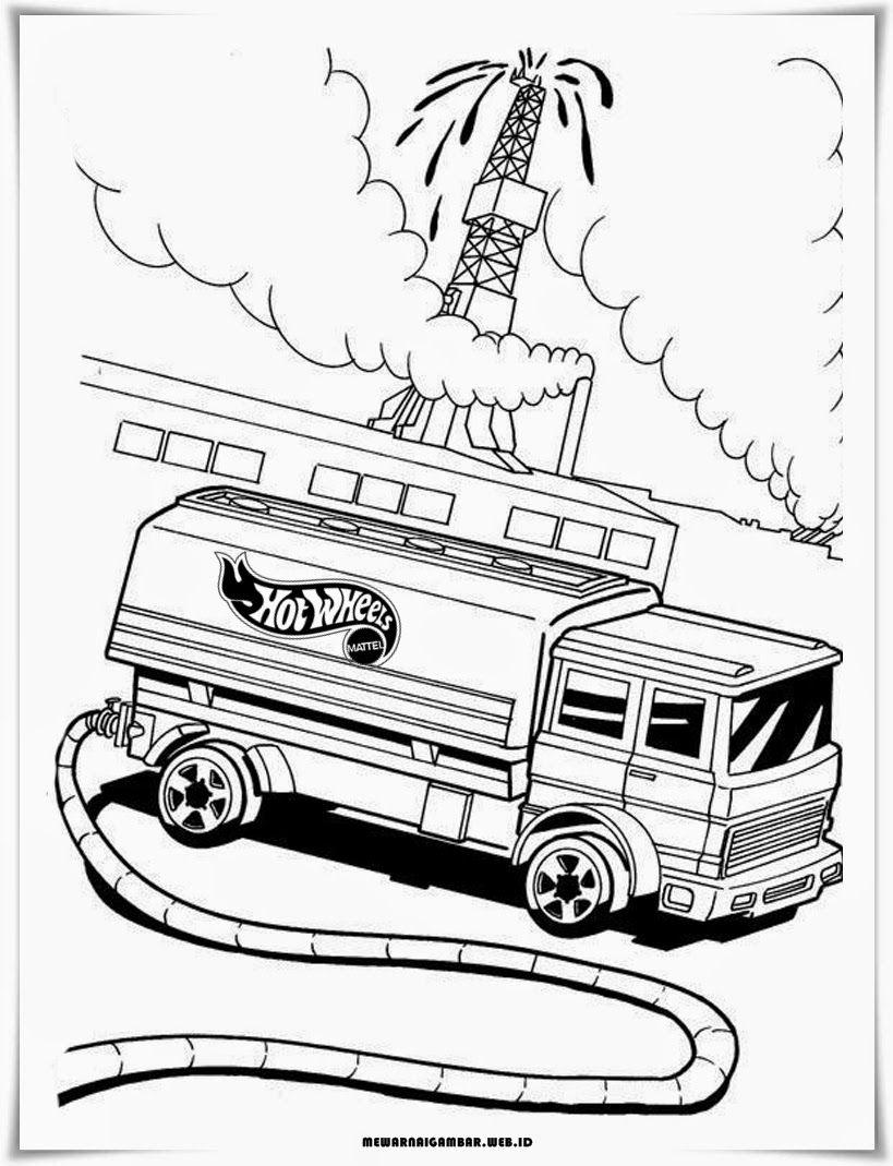 Gambar Mewarnai Mobil Truk Hot Wheels Mobil Lego Hot Wheels Dan Hot