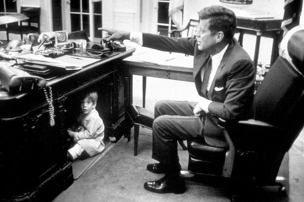 JFK and John Jnr a month before the assassination