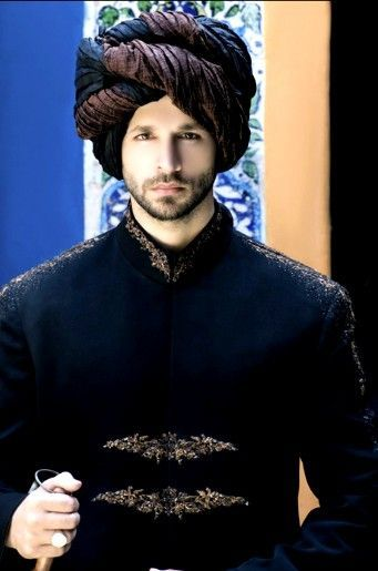 Brown Black Rajasthani Style Groom Pagri For Indian Grooms