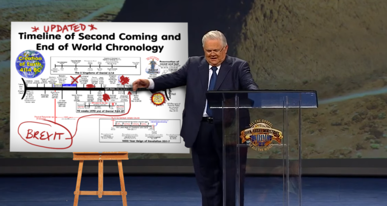 Dispensationalists Frantically Adjust End Times Charts To Include