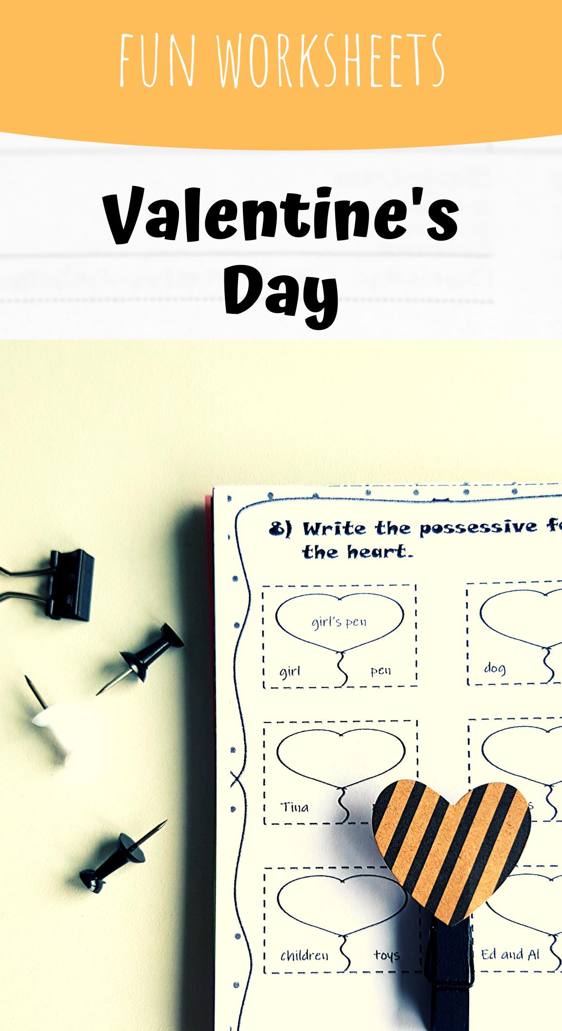 Valentine S Day No Prep Worksheets Contractions And Possessives Possessives Valentines Fun Worksheets [ 2112 x 1152 Pixel ]