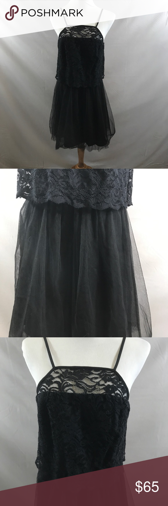 Bcbgeneration black tulle dress new nwt my posh picks pinterest
