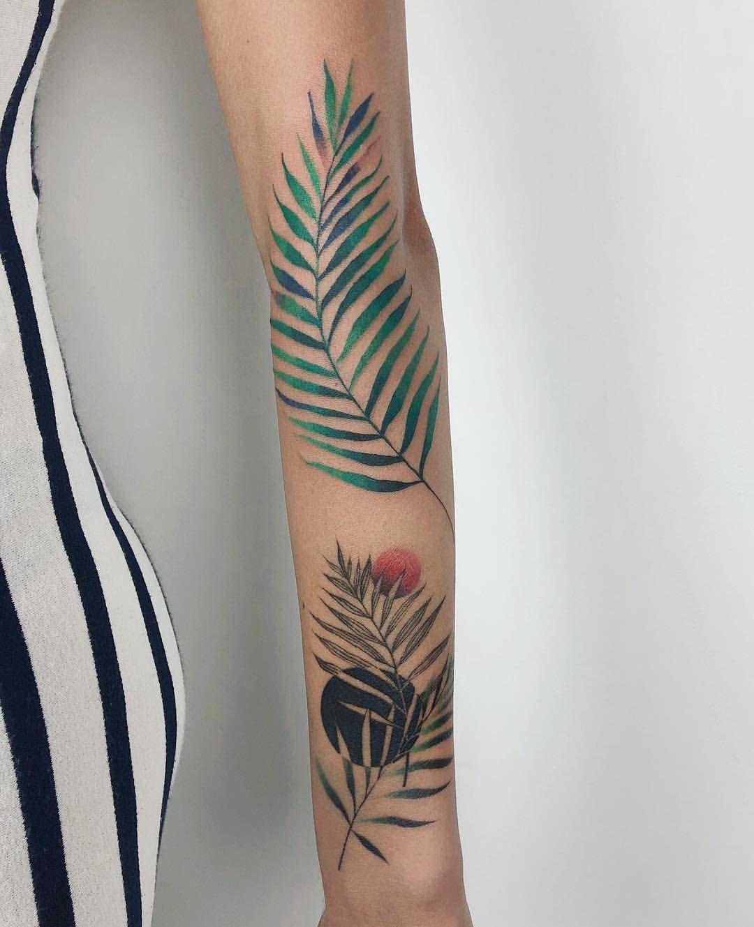Karolina Skulska Skvlska Instagram Posts Videos Stories Picoji Colorful Palm Leaf Next To Super Nice W Elegant Tattoos Palm Tattoos Arm Tattoo Leaves Your favourite piece from our refreshed classic collection? palm tattoos arm tattoo
