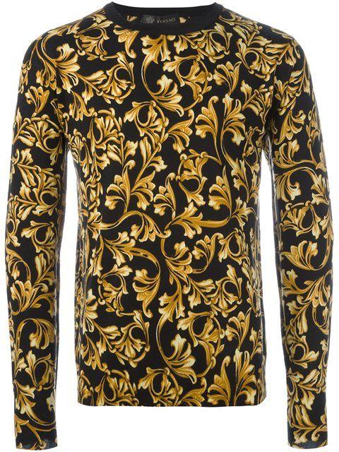 fd437e54e3 Versace 'Barocco' print jumper | Prints | Versace men, Mens fashion ...