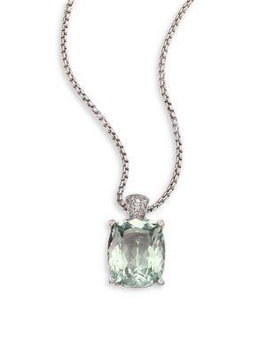 John Hardy Batu Chain Diamond Pendant Necklace YfA9O8Ff6t