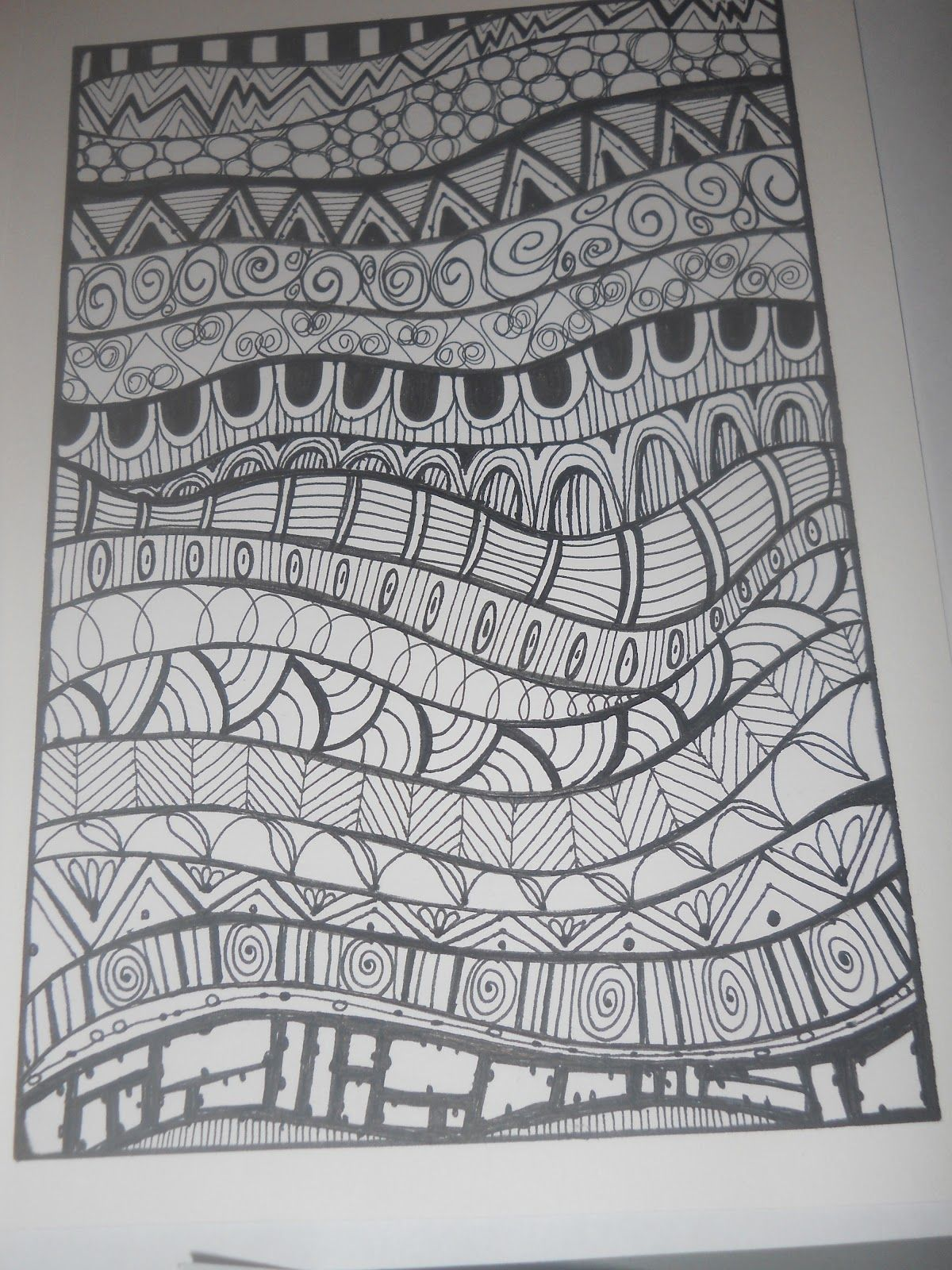 Line Art Year 5 : Zentangle basics patterns for kids google search