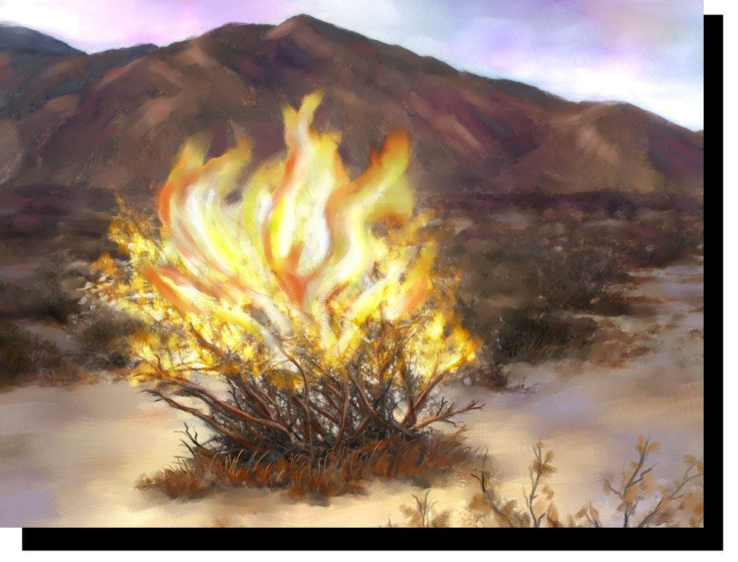 exodus 3 a great painting of the burning bush exodus