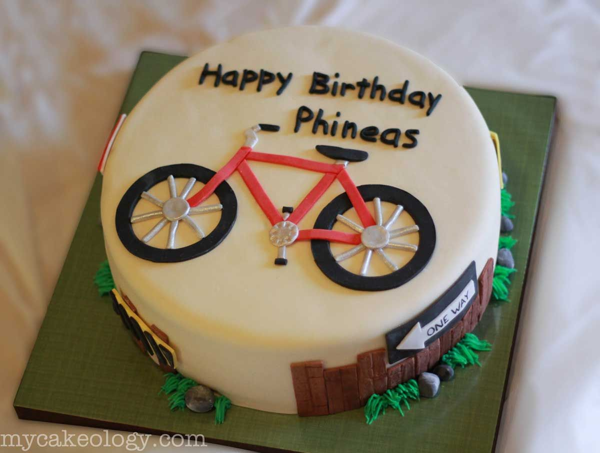 Bicycle Birthday Cakes Ideas For  Year Old