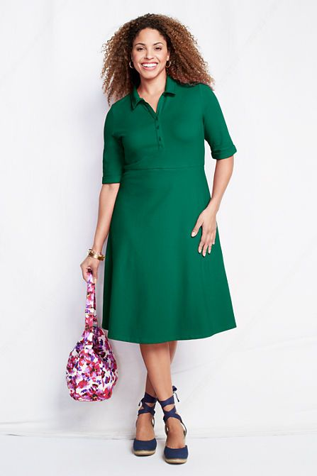 Polo style dress for plus sizes